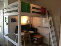 IKEA Loft Bed. only a year old. comes with mattress.