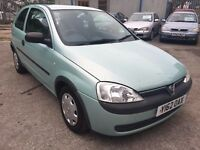 Vauxhall Corsa Club 1.2 16v, 2001/Y Reg, MOT 30 June 2017 & NO ADVISORIES, S/Hist, 3 Dr Hatch, Green