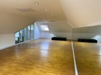 Large fitness/dance/well-being studio to rent in brand new gym!