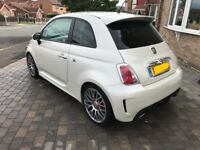 Fiat abarth 500 2012 pearl while low mileage