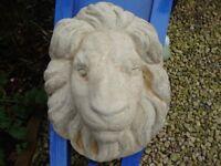 Limestone,Lion Head Wall Mask.
