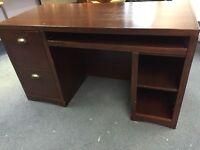 Hardwood bookshelf / desk