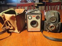 2 Vintage Cameras Kodak and Ensign
