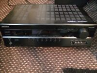 ONKYO TX-SR507 CINEMA RECEIVER, FAULTY AS STUCK IN STANDBY, FOR SPAIR OR REPAIR HARDLY BEEN USED.
