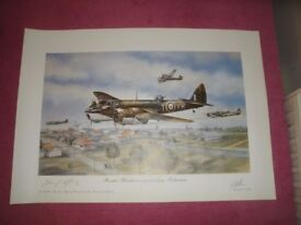 Bristol Blenheims Approaching Rotterdam Print Signed By The Artist & The Lord Mayor Of Bristol