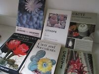 SIX BOOKS ABOUT CACTI AND SUCCULENTS ~ CACTUS ~ PLANT ~ £6