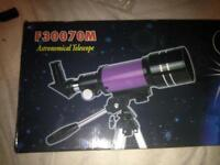 F30070M astronomical telescope with tripod