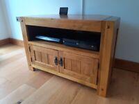 Oak TV Corner Stand