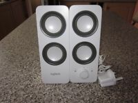 Logitech White Stereo Speakers for PC or Mac