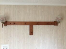 70's hall wall lights with coat hooks. 1.114mm wide