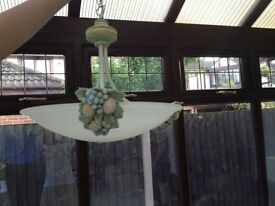 Matching pair of 100 w ceiling lights for sale, unusual design