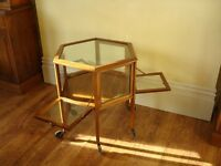 ***Victorian Antique octagonal mahogany display cabinet ***