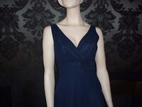 BHS Navy Bridesmaid/Prom Dress/Evening Gown 10, 12, 14