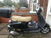 Vespa LX 50 with conversion, black, sleek, excellent runner, £1250 ono