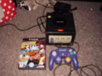 NINTENDO GAMECUBE WITH GAMES AND MEMORY CARD