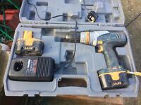 Cordless Ryobi 14.4volt Drill working