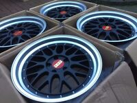 "4 x NEW 18"" BBS LM STYLE ALLOY WHEELS 5x112 VW GOLF MK5 MK6 AUDI A3 A5 S3 RS3 MERCEDES W203 W204"