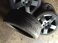 """Audi A3 alloys 17"""" plus extra 5th spare tyre"""