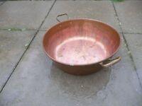 Copper preserving pan
