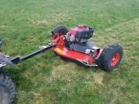 Quad atv logic trm120 grass cutter mower topper