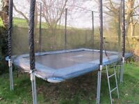 Kanga 8 ft x 12 ft Rectangular Trampoline: used but good