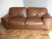 2 Leather settees, 2 beds. large mirror, table and 4 chairs, 4 drawer unit, TV&DVD player shelf unit