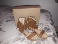 River island tassle sandals size 5