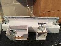 Bathroom Set B&Q *NEW* - High Quality Mosaic Bathroom Set - Towel Rail - Toilet Roll Holder - Bargin