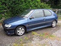 "Peugeot 306 1.9 DT Sport 1996 Genuine Peugeot 14"" Alloy wheels"