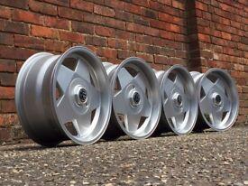 Borbet A deep dish alloy wheels, 4x100, Vw Golf MK 1 2 3, caddy e30
