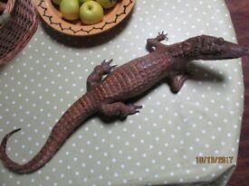 Stuffed infant crocodile
