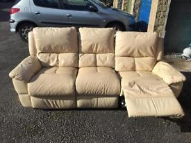 3 and 2 seater leather sofa very good condition