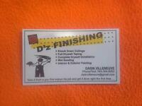 D'z FINISHING....your local taper, drywaller and painter