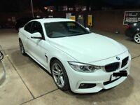 BMW 4 SERIES 420D 2.0 M SPORT WHITE