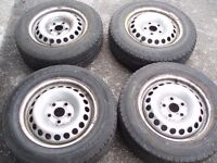 "16"" Set steel wheels VW T5 205/65/16C Volksvagen Transporter 5x120 Delivery available"