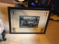 COLLECTABLE ROLLS ROYCE 'SILVER GHOST 1911' ADVERTISING MIRROR -1976