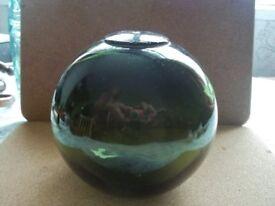 Vintage Green Glass Fishing Float