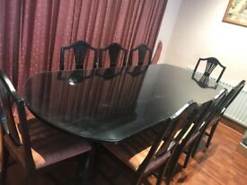 dining table, chairs, 8 seater dining table