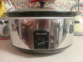 Morphy Richard slow cooker, used twice, excellent condition