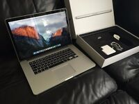 "MacBook Pro 15"" Retina Latest 2.5GHz 16GB 512GB +Apple Care"