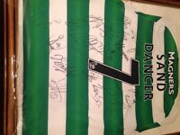Celtic shirt signed by 11 players