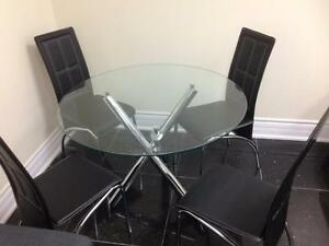 GLASS SMALL KITCHEN TABLE FOR 399$ ONLY.LIMITED QUANTITY.