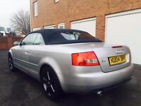 2004 04 Audi A4 Cabriolet S Line Sport 1.8 Turbo *Manual*FSH Full Leather +BOSE+ not clk convertible