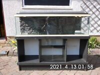 Fish/Reptile tank 4ftx1ftx1ft on black ash stand