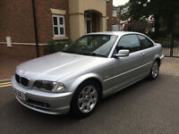 2002 BMW 318 CI SE COUPE * RARE BMW CAR * LONG MOT * 2.0L PETROL MANUAL * PARK SENSORS,6 CD,A/C,E/W