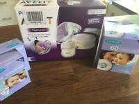 Philips Avent single electric breastpump (includes nursing pads and storage bags)