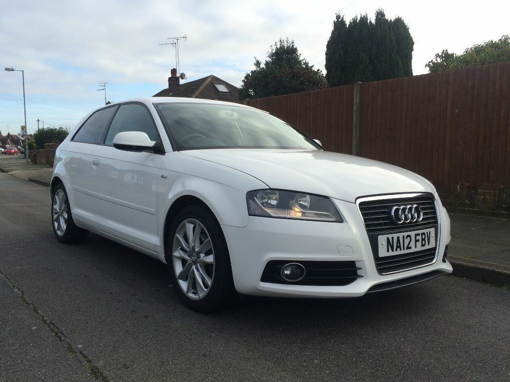 2012 audi a3 1 6 tdi sport 3 door diesel manual white s line in luton bedfordshire gumtree. Black Bedroom Furniture Sets. Home Design Ideas