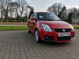 SUZUKI SWIFT SPORT RED. Low milage, excellent condition. TWO OWNERS FROM NEW