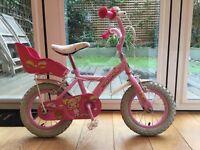 "Appolo cupcake kids bike, 12"", age 3-5, removable stabilisers"