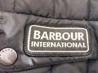 Barbour International Quilted Jacket coat only worn 3 times Black Medium Unisex